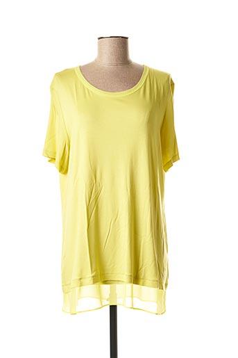 T-shirt manches courtes vert ELENA MIRO pour femme