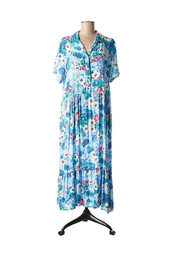 Robe longue bleu J S MILLENIUM pour femme