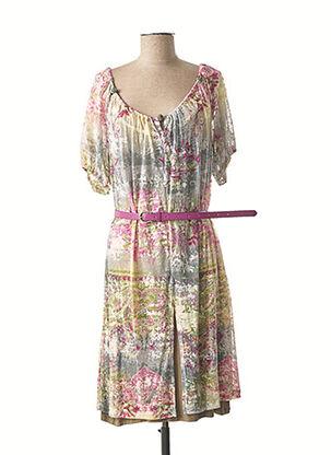 Robe mi-longue rose ABY GARDNER pour femme
