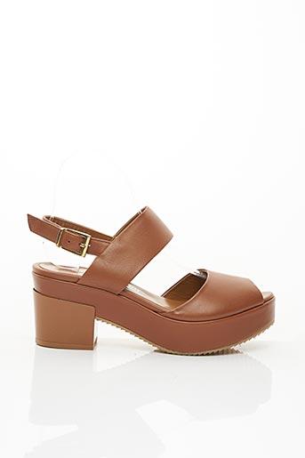 Sandales/Nu pieds marron CRISTINA MILLOTTI pour femme