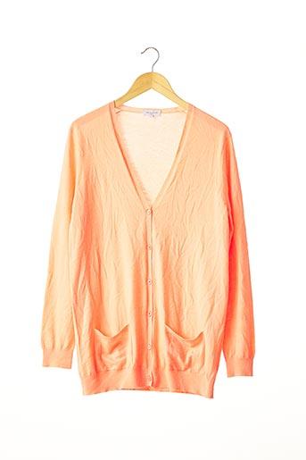 Gilet manches longues orange ERIC BOMPARD pour femme