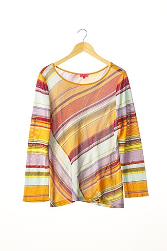 Pull col rond orange CHACOK pour femme