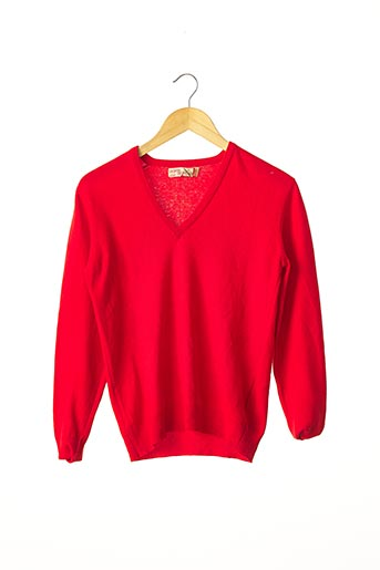 Pull col V rouge BARRIE pour femme