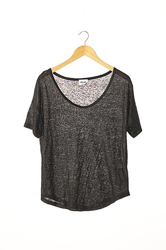 T-shirt manches courtes noir BEL AIR pour femme