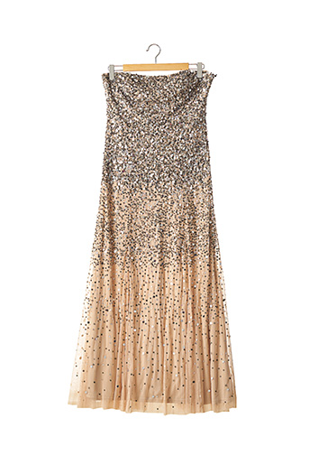 Robe longue beige ADRIANNA PAPELL pour femme