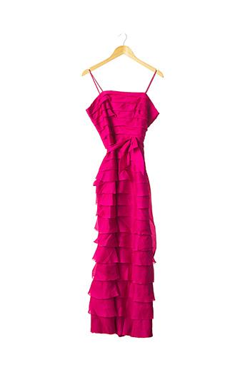 Robe longue rose CATHERINE GERARD pour femme