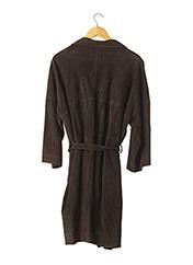 Veste en cuir marron APOSTROPHE pour femme seconde vue