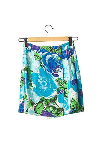 Jupe courte bleu BALENCIAGA pour femme