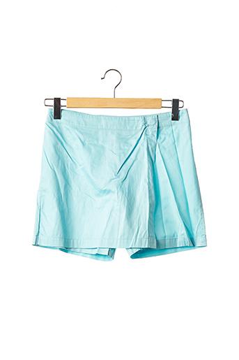 Jupe short bleu MANUEL CANOVAS pour femme