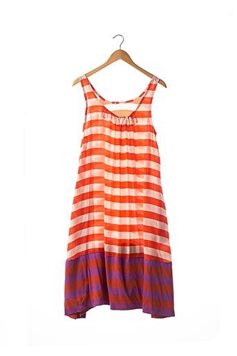 Robe mi-longue orange SONIA RYKIEL pour femme