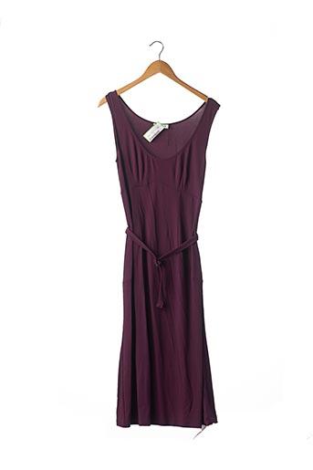 Robe mi-longue violet CELINE pour femme