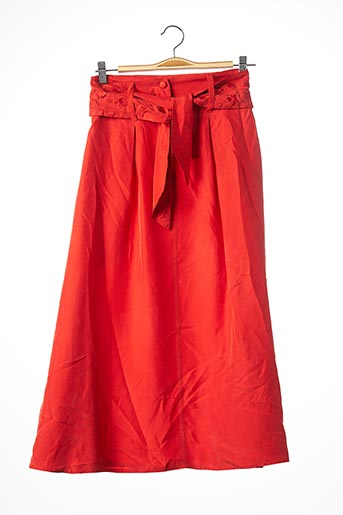 Jupe longue orange SONIA RYKIEL pour femme