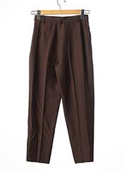 Pantalon chic marron YVES SAINTLAURENT pour femme seconde vue