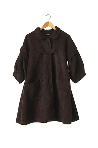 Manteau long marron BEL AIR pour femme