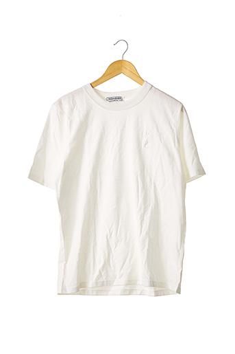 T-shirt manches courtes blanc YVES SAINT LAURENT pour homme