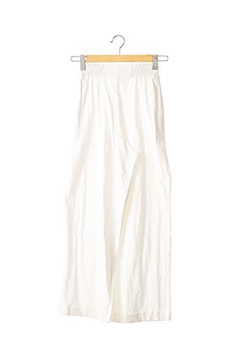 Pantalon casual blanc EMMANUELLE KHANH pour femme