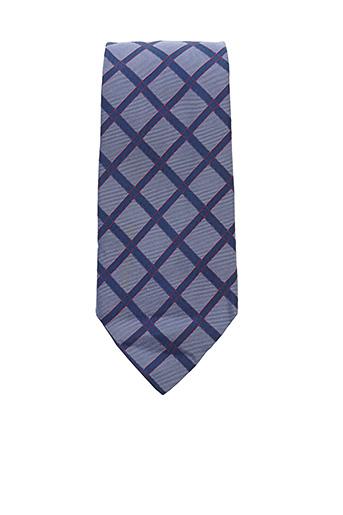 Cravate bleu HERMES pour homme