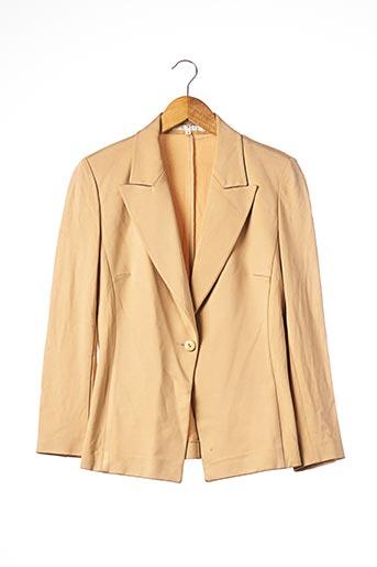 Veste chic / Blazer beige CAPUCINE PUERARI pour femme