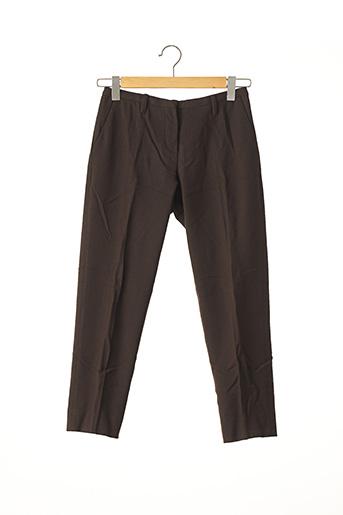 Pantalon chic marron PRADA pour femme