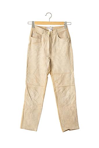 Pantalon casual beige ABSOLU pour femme