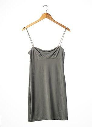 Robe courte gris CAPUCINE PUERARI pour femme