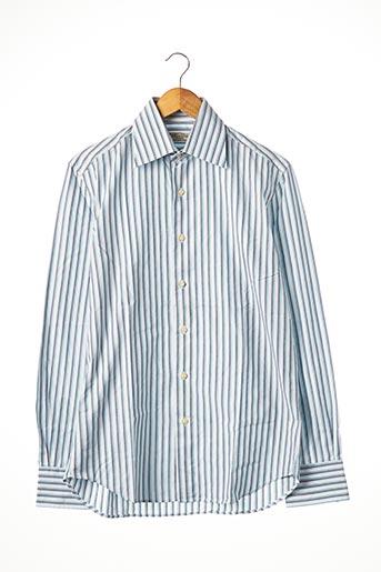 Chemise manches longues bleu ADRIANO CIFONELLI pour homme