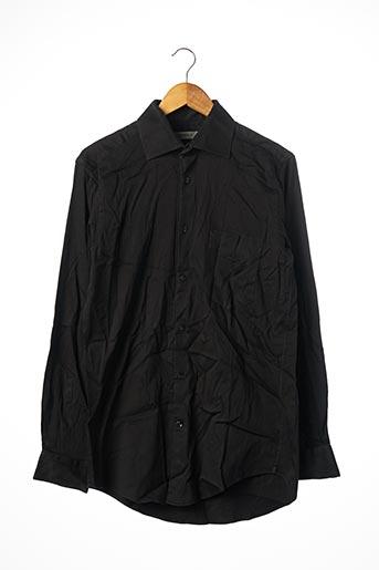 Chemise manches longues noir LAGERFELD pour homme