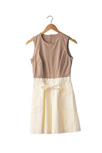 Robe courte beige PAULE KA pour femme