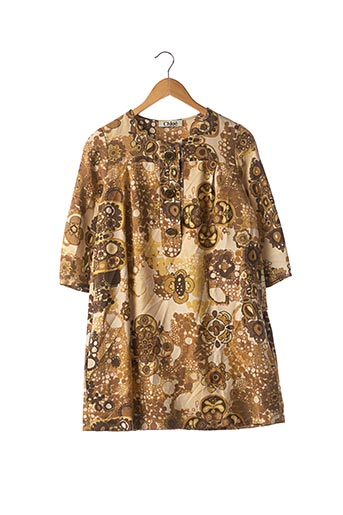 Robe courte marron CHLOE pour femme