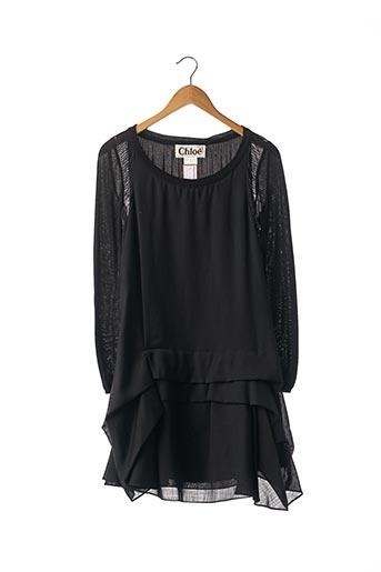 Robe courte noir CHLOE pour femme