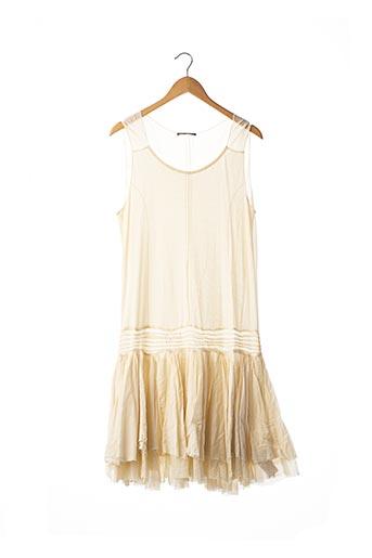 Robe mi-longue beige MARITHE & FRANCOIS GIRBAUD pour femme