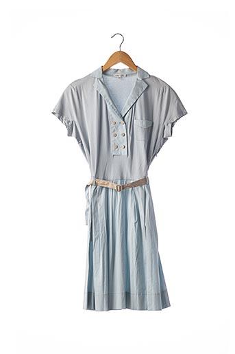 Robe mi-longue bleu PASCAL MILLET pour femme