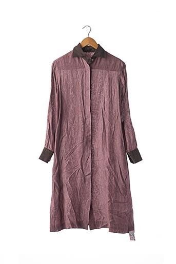 Robe mi-longue rose AMIN KADER pour femme