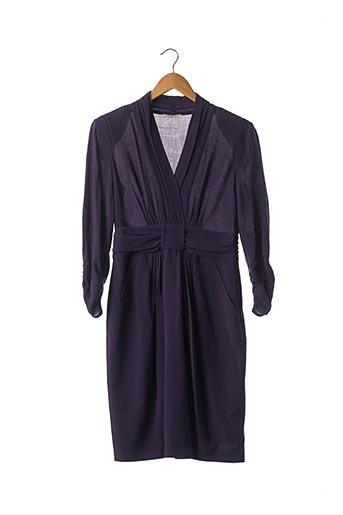 Robe mi-longue violet BR pour femme