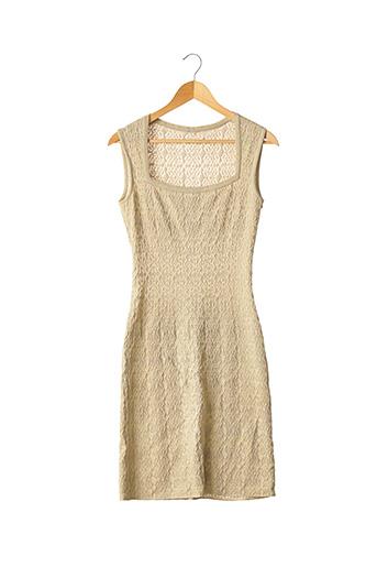 Robe mi-longue beige ALAIA pour femme