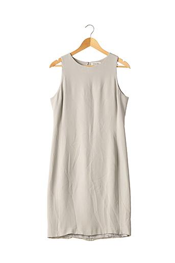 Robe mi-longue gris CALVIN KLEIN pour femme