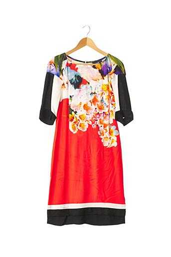 Robe mi-longue rouge CAVALLI pour femme