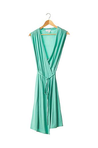 Robe mi-longue vert PAUL & JOE pour femme