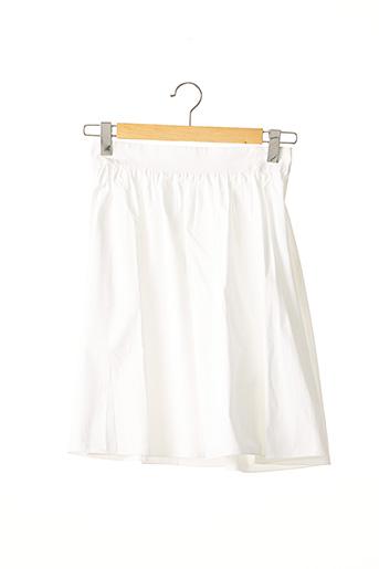 Jupe mi-longue blanc PAULE KA pour femme