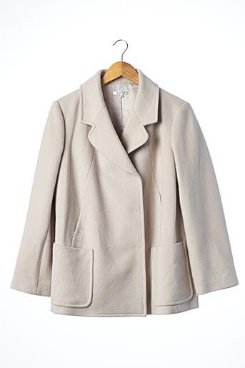Manteau court gris PAULE KA pour femme