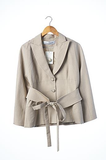 Veste chic / Blazer beige JEAN-LOUIS SCHERRER pour femme