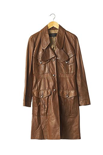 Veste en cuir marron BARBARA BUI pour femme