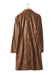 Veste en cuir marron BARBARA BUI pour femme seconde vue