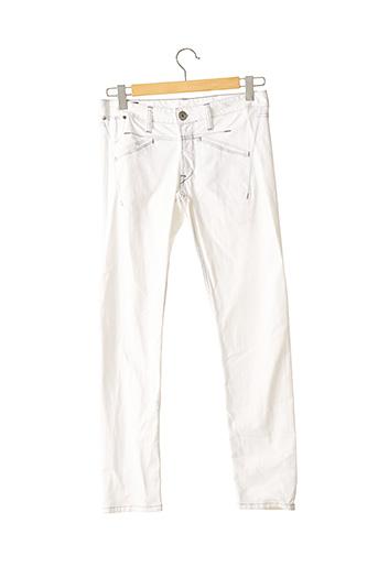 Jeans coupe slim blanc MARITHE & FRANCOIS GIRBAUD pour femme