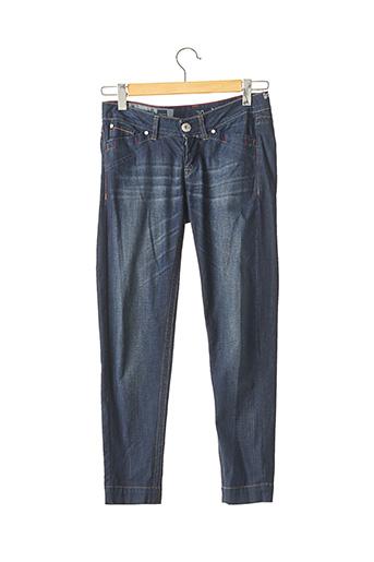 Pantalon 7/8 bleu MARITHE & FRANCOIS GIRBAUD pour femme