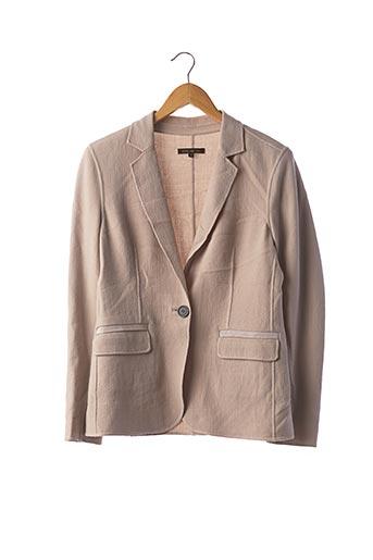 Veste chic / Blazer beige APOSTROPHE pour femme