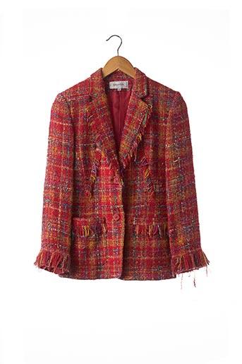 Veste chic / Blazer rouge BRIGHTON pour femme