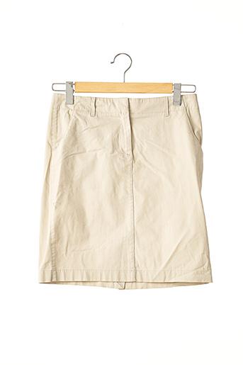 Jupe courte beige BROOKS BROTHERS pour femme