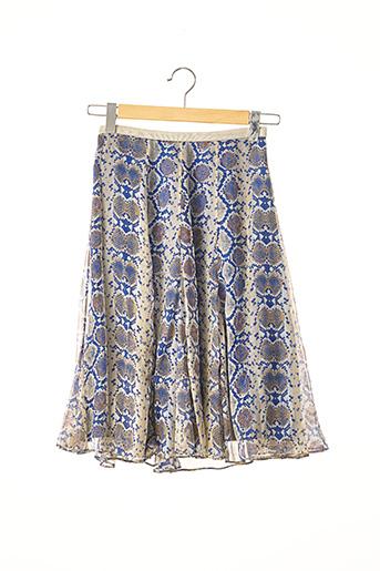 Jupe mi-longue bleu ARMAND VENTILO pour femme