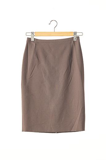 Jupe mi-longue marron BRIONI pour femme